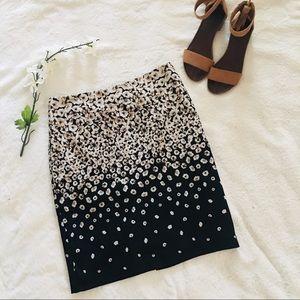 $5 W/ BUNDLE New York & Company Black Floral Skirt